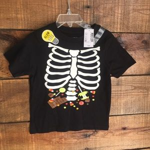 Skeleton Boys toddler Halloween T-shirt 2T